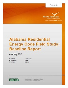 Alabama Residential Energy Code Field Study: Baseline Report