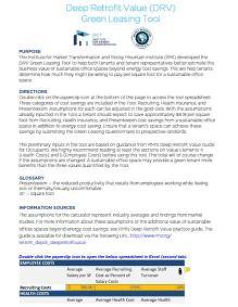 Deep Retrofit Value (DRV) Green Leasing Tool