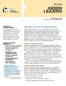 Building the Case for Green Leases