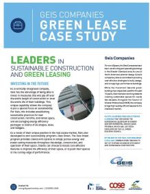 Geis Companies Green Lease Case Study