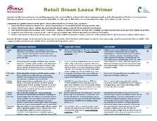 Retail Green Lease Primer