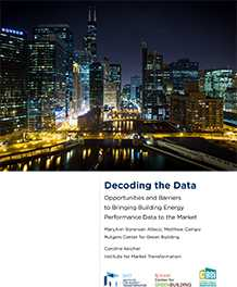 Bringing Building Energy Performance Data to the Market