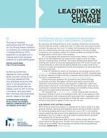 IMT 2016 Annual Report Case Study: Leading on Climate Change