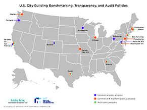Map: U.S. City Building, Transparency and Audit Policies