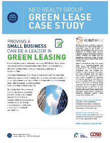 NEO Realty Group Green Lease Case Study