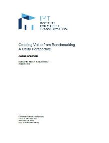 Creating Value from Benchmarking: A Utility Perspective