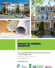 What is Green Worth? Unveiling High-Performance Home Premiums in Washington, D.C.