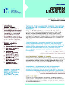 Green Leasing Info Sheet