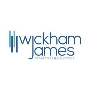 Wickham James logo in blue