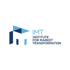 IMT logo in blue and navy