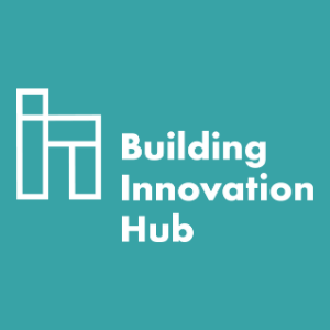 Building Innovation Hub Logo on teal background