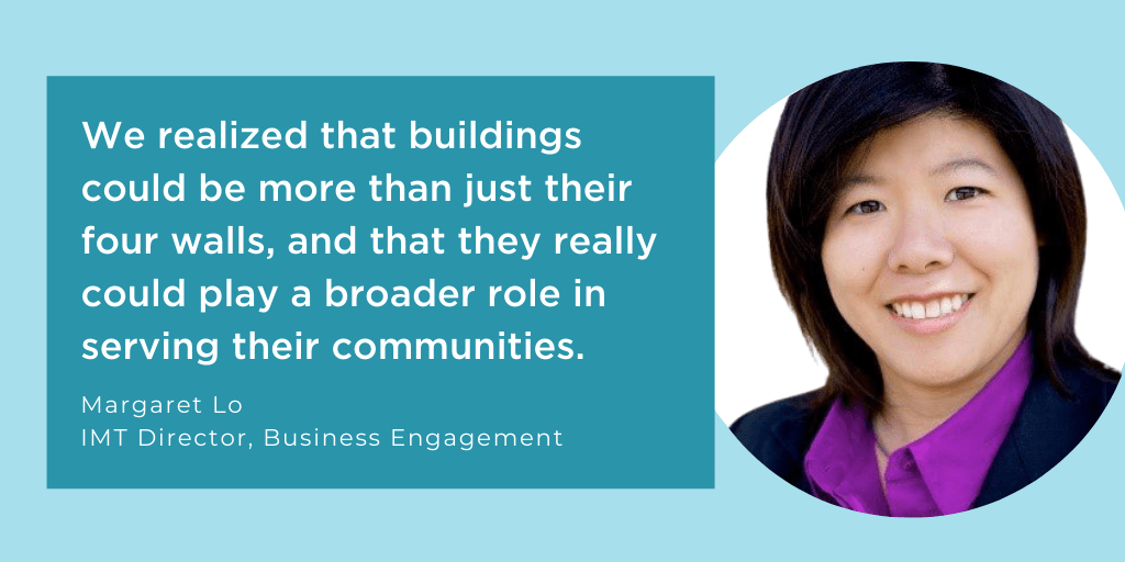 we realized that buildings could be more than just their four walls, and that they really could play a broader role in serving their communities.